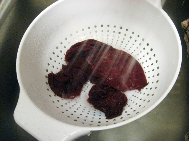 rinsing dyed stockings