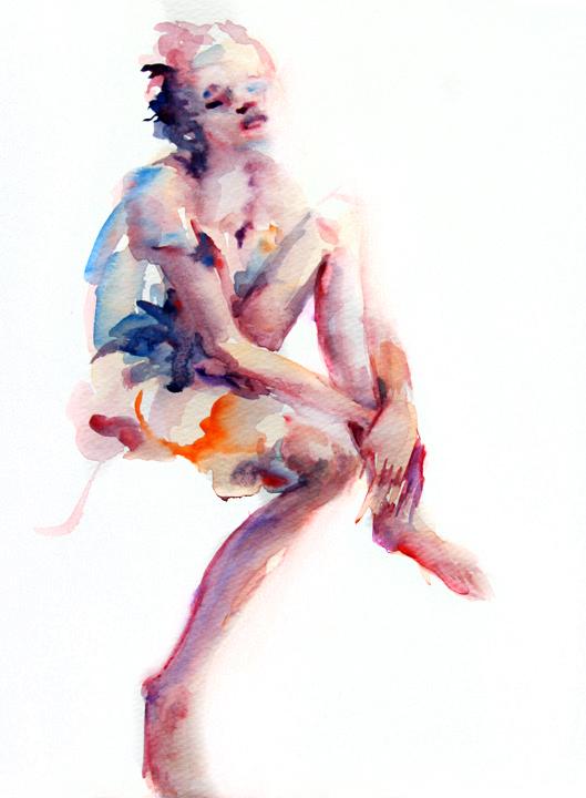 Elena Caravela abstract girl painting