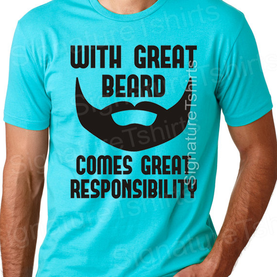 Funny beard t-shirt