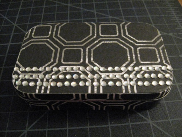 bedazzled tin box