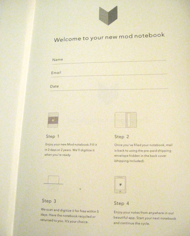 Mod Notebooks- welcome page