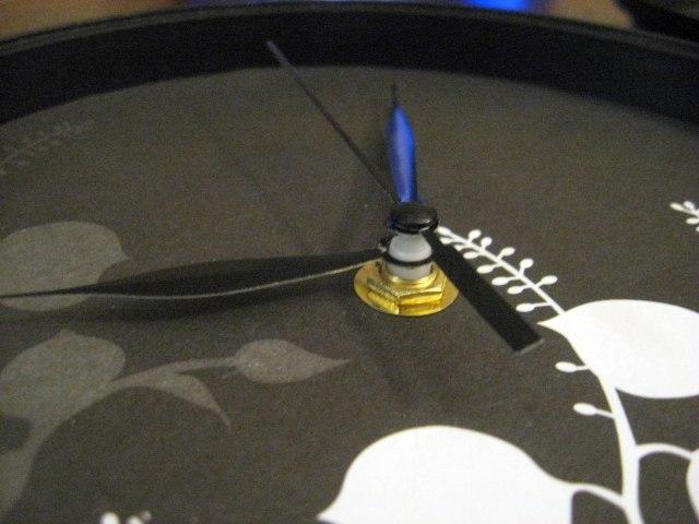 clock pieces put together