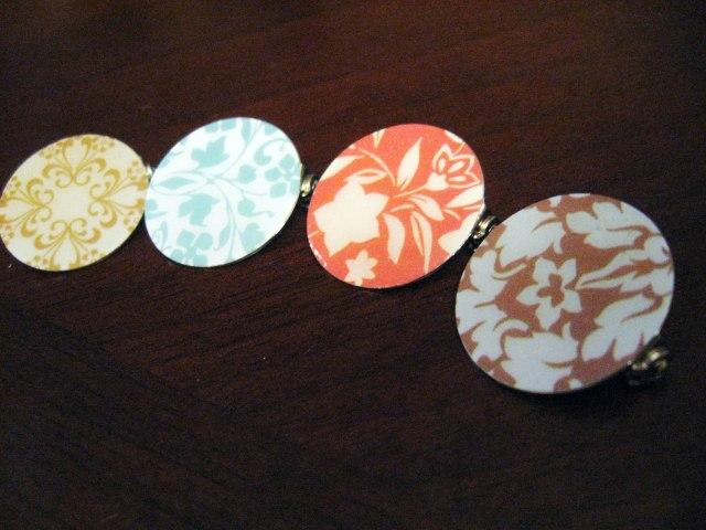 decorative scrapbook paper pins