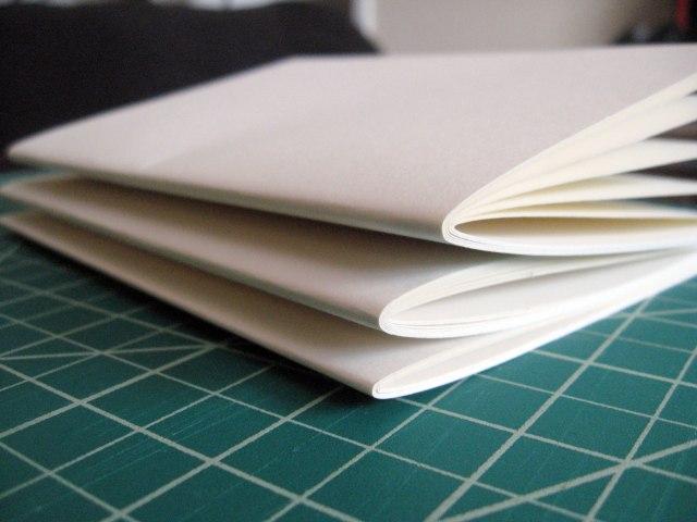 folded sketchbook pages