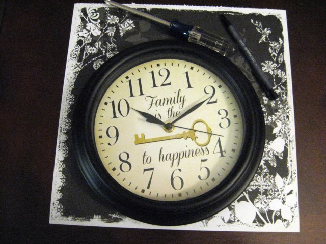 Materials needed for redecorated clock
