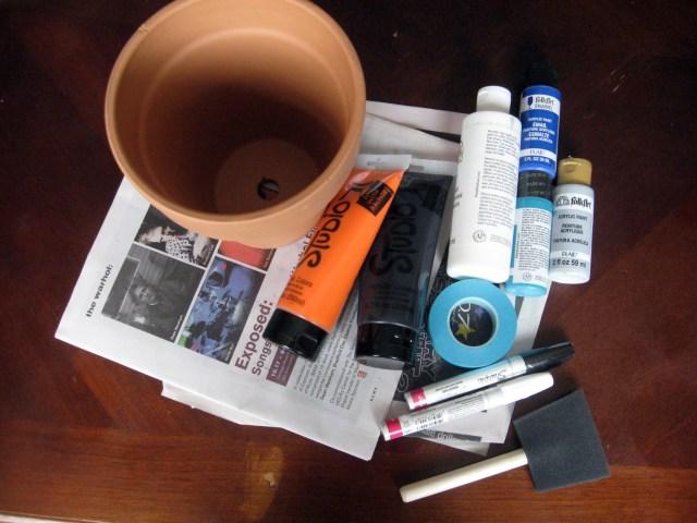 DIY planter materials