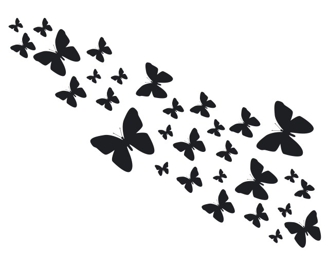 Candle wrap butterfly pattern