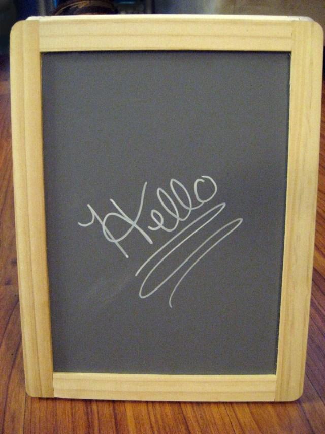 diy blackboard sign