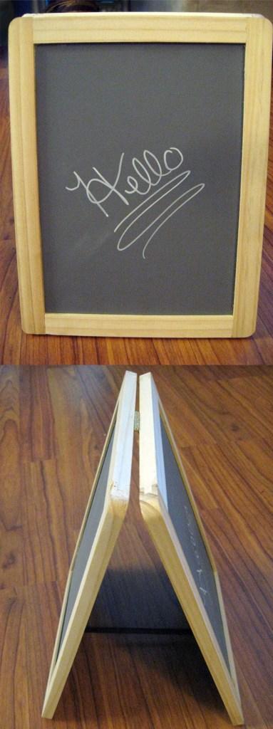 diy double blackboard sign angles