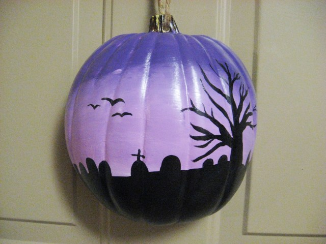 diy halloween ombre pumpkin decor