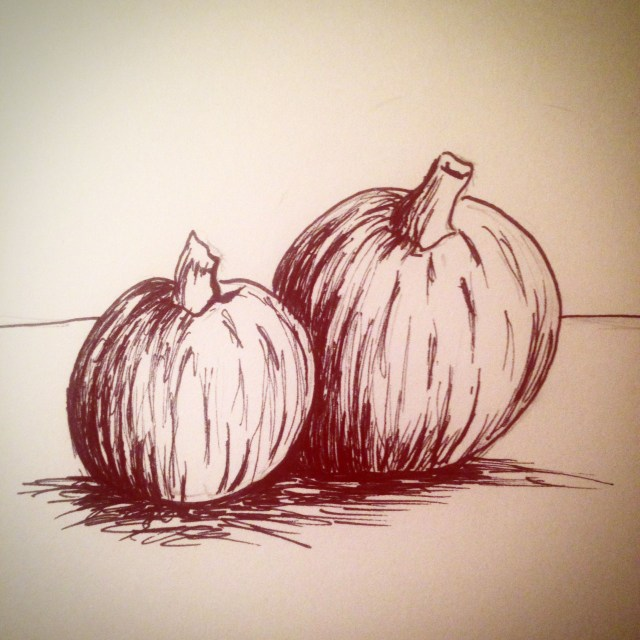 pumpkin drawing inktober