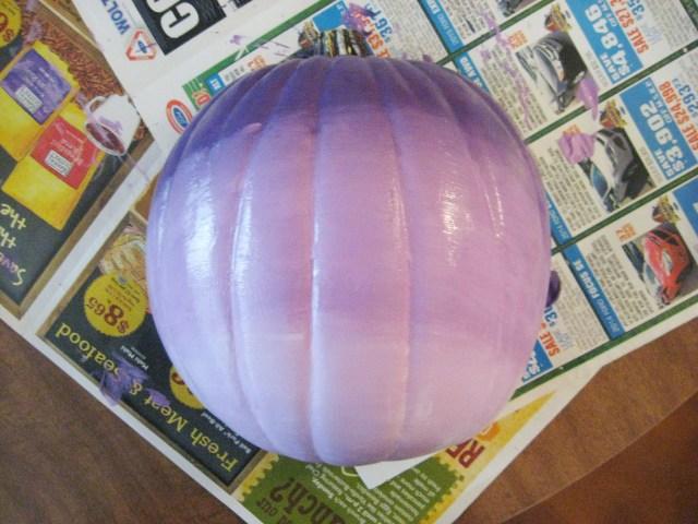 purple ombre halloween pumpkin