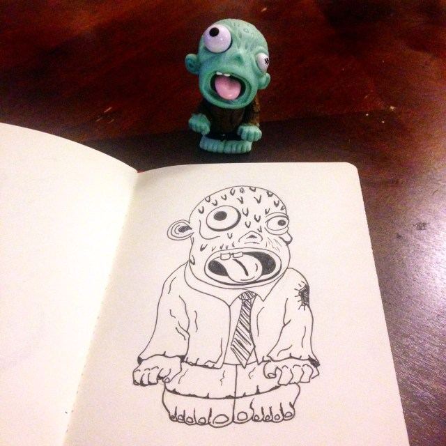zombie drawing inktober