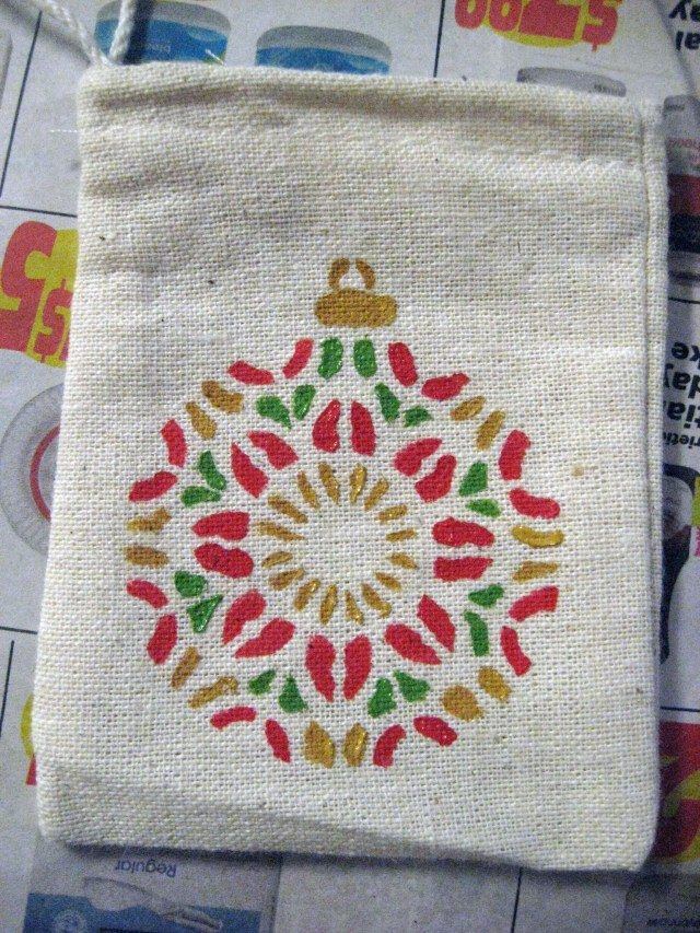 painted gift bag