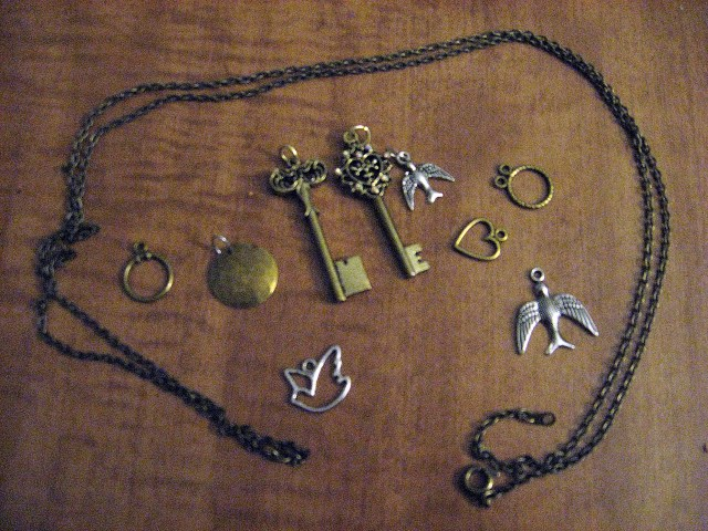 vintage necklace charms