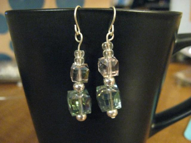 diy stacked beaded earrings
