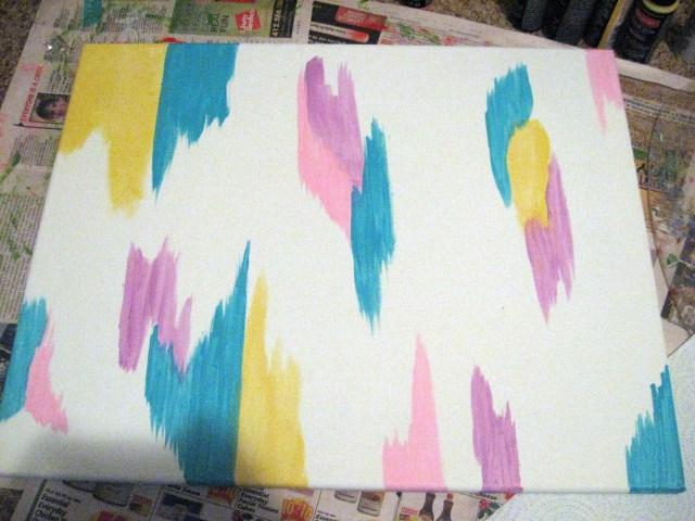 pastel paint strokes