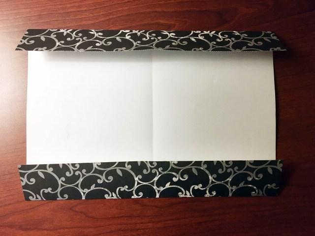 scrapbook paper edges folded inward