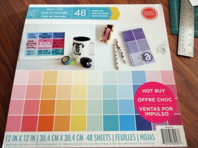 paint square scrapbook paper