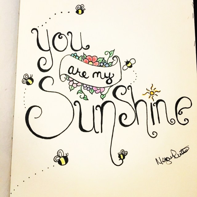 Inktober day 29 - you are my sunshine doodle
