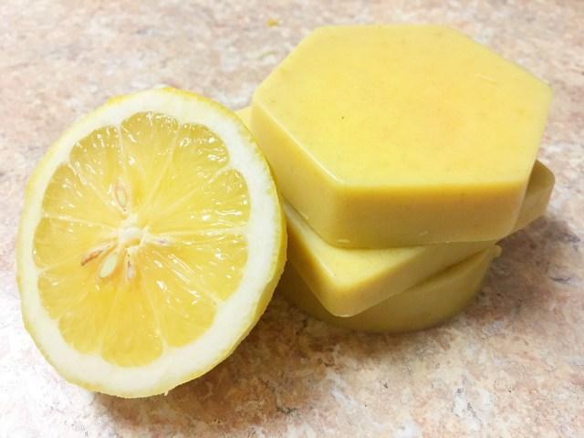 DIY lemon zest soap