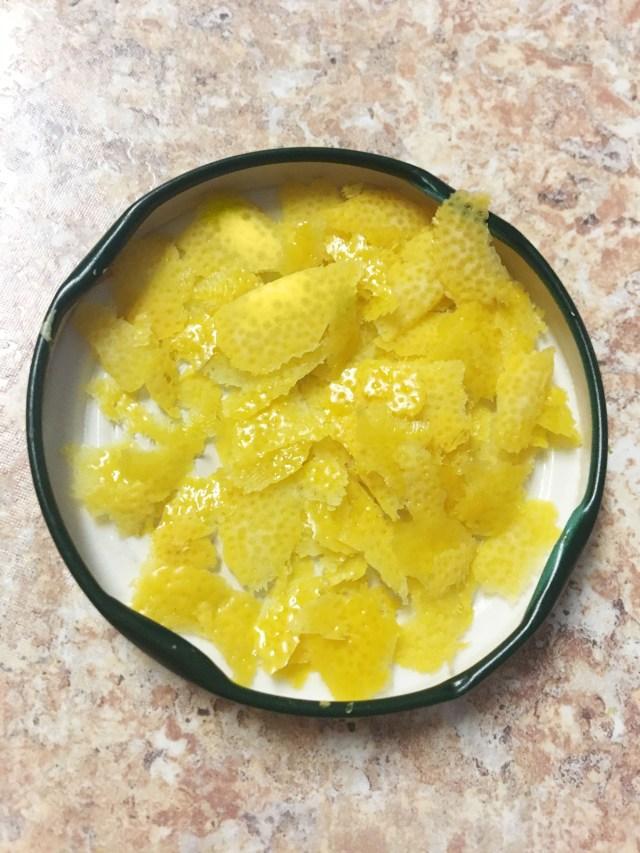 lemon zest for homemade soap