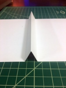 Paper fold location