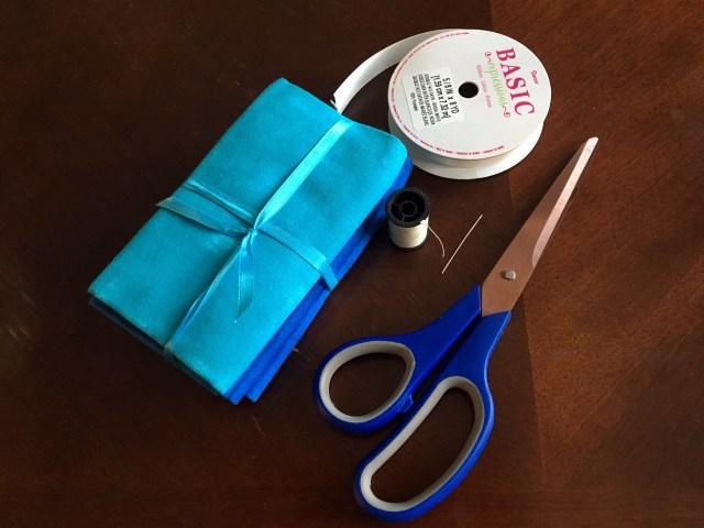 diy fabric gift bag supplies