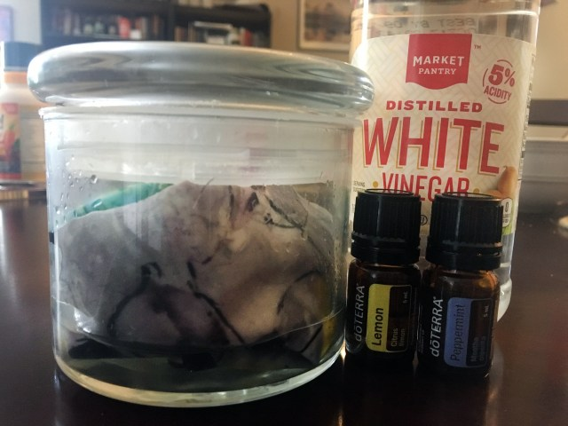 dryer sheets made with essential oils & vinegar