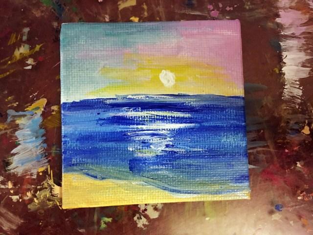 mini beach painting tutorial