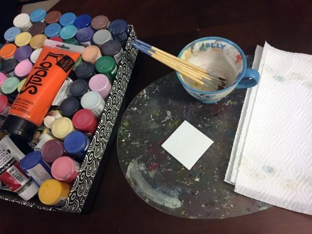 mini canvas painting supplies