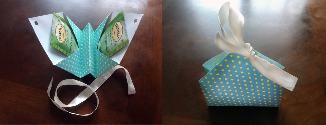 diy tea bag holder scrapbook paper craft