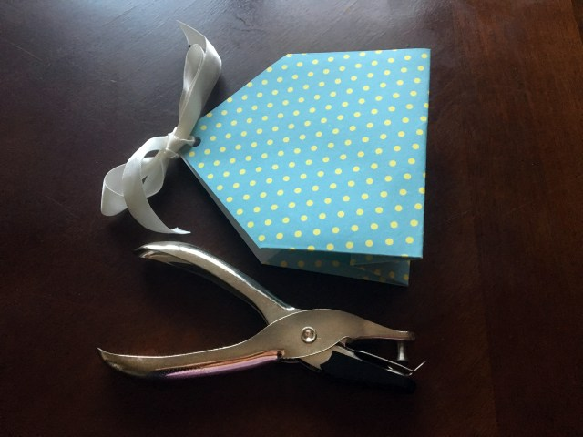 scrapbook paper tea bag gift bag