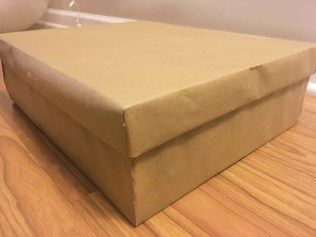brown paper gift box
