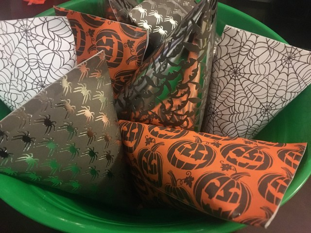 halloween candy scrapbook paper treat bags