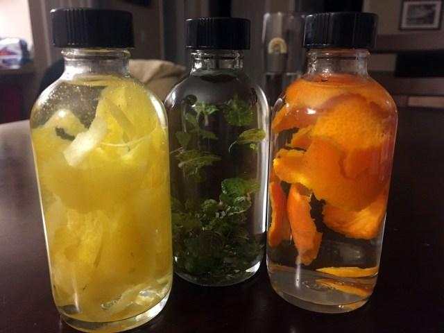 diy extract: lemon mint orange