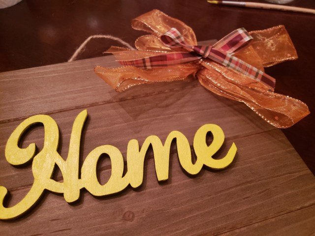 home sign craft project