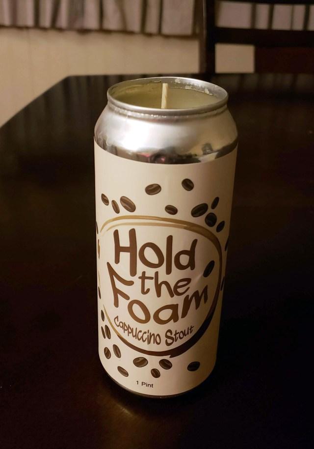 diy coffee beer candle