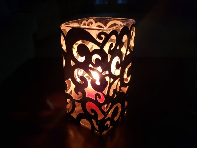 DIY halloween luminary