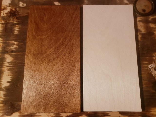 stained wood pieces