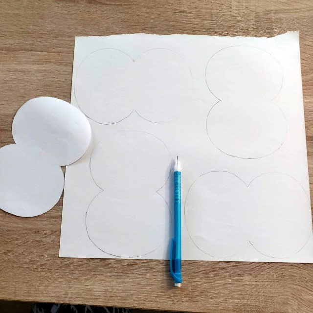 trace and cut out pumpkin patterns