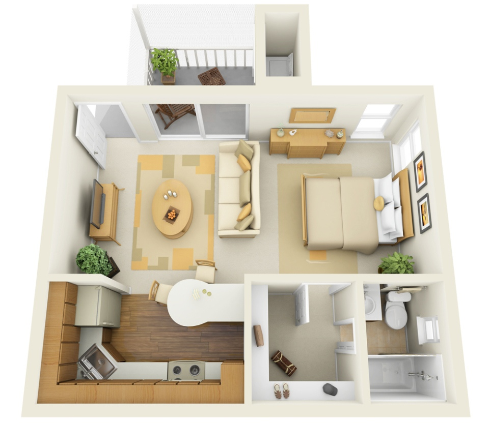 11 ways to divide a studio apartment into multiple rooms