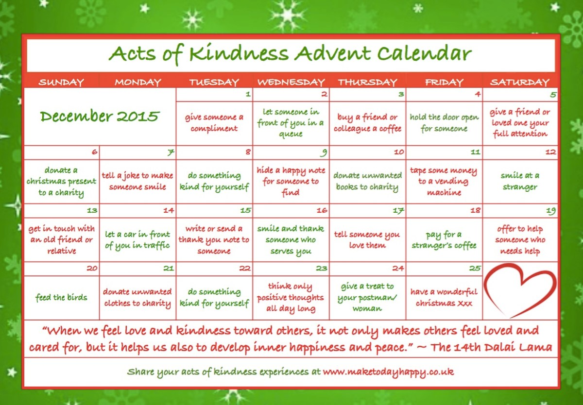 Day 83: Kindness Advent Calendar (2015)