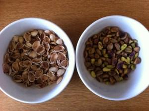 de-shelling pistachios