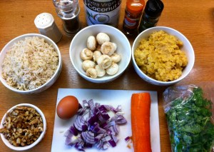 Lentil and Walnut Burgers ingredients