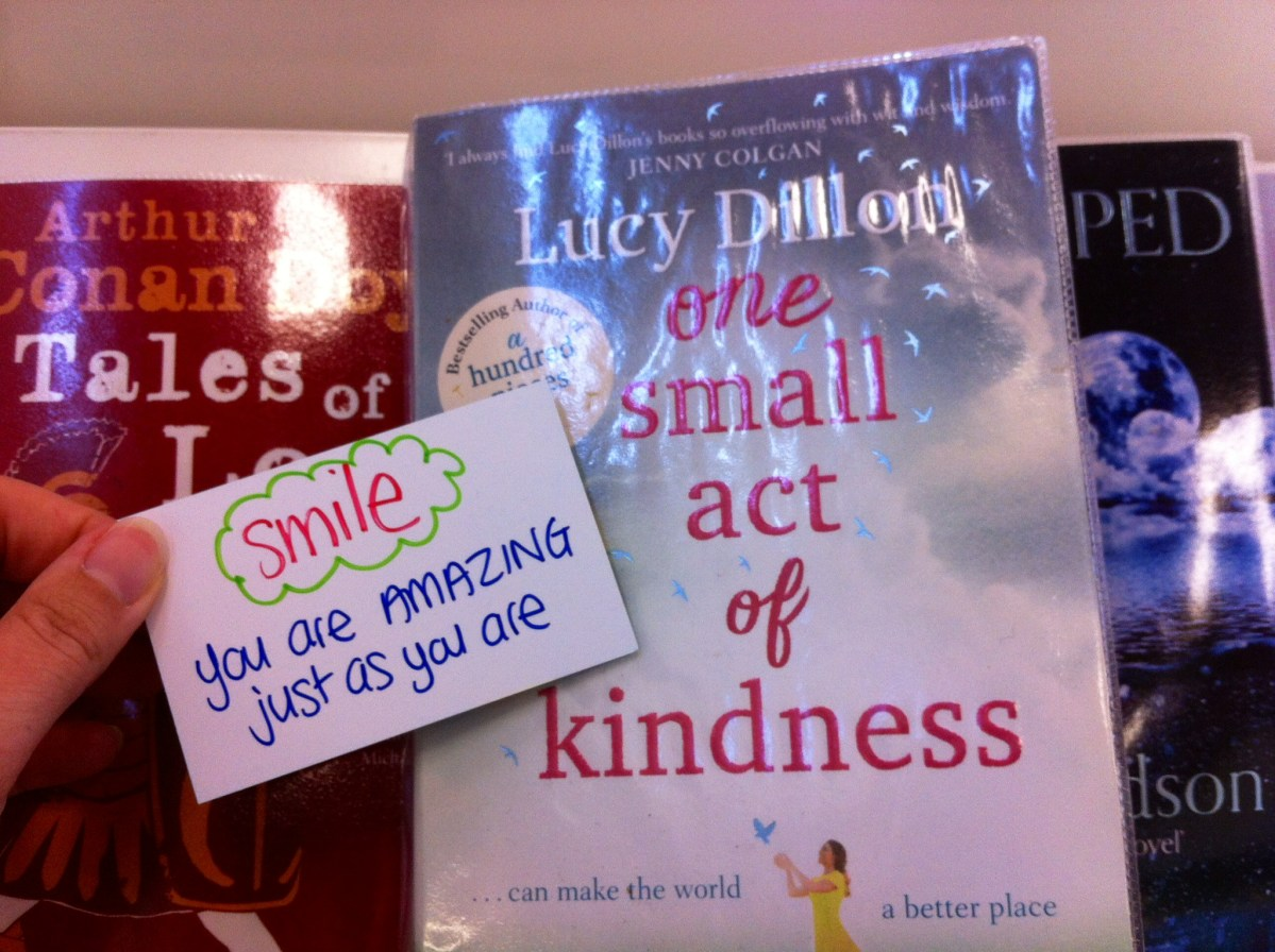 Act of kindness #20: Library book messages II