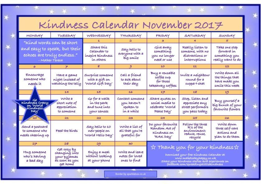 Kindness Calendar - November 2017 FINAL