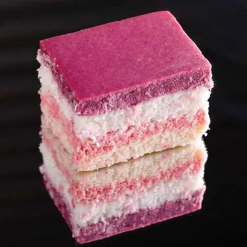 Coconut Berry Ice Slice