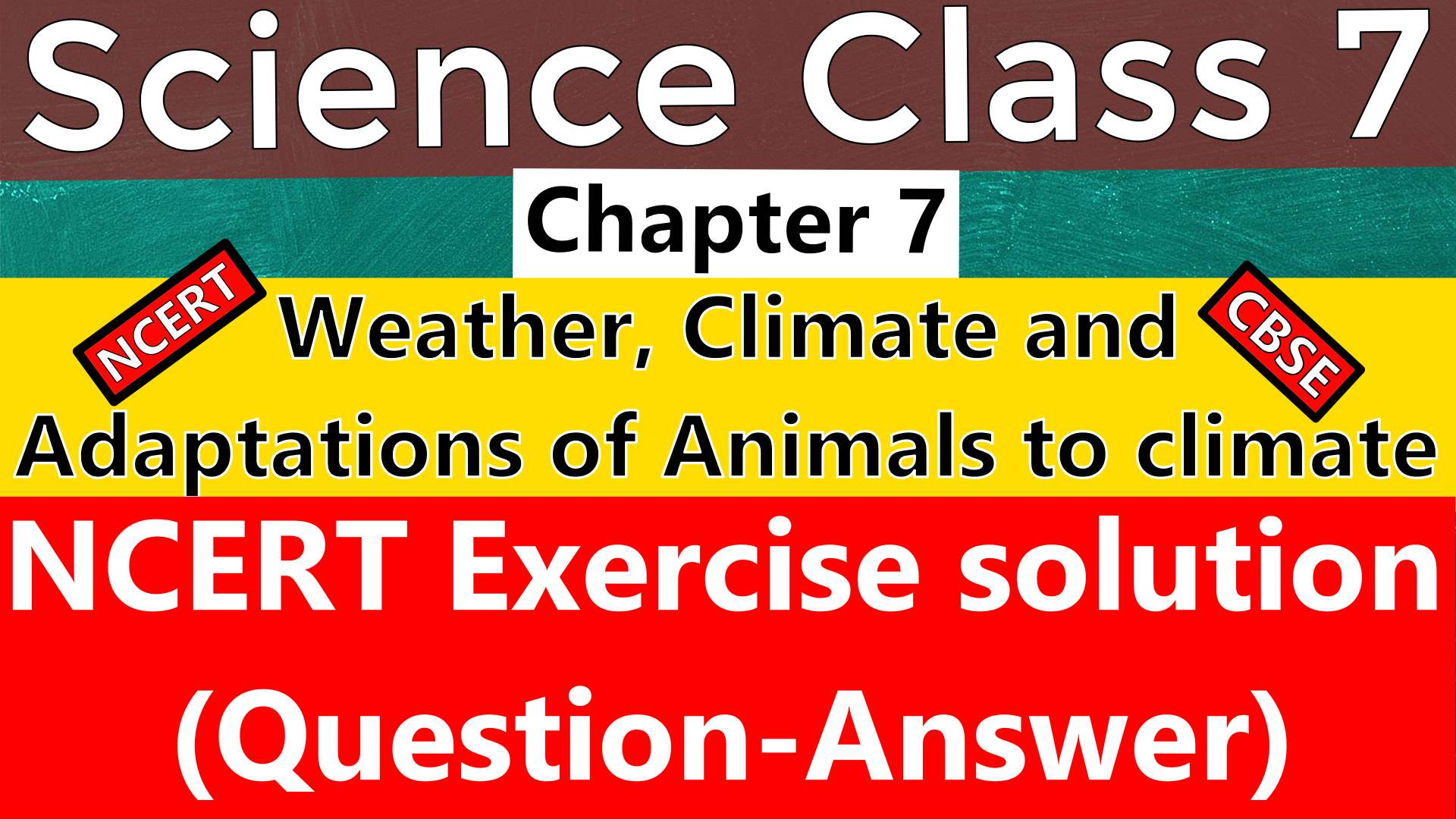 Science Class 7 Chapter 7 Weather Climate And Adaptations