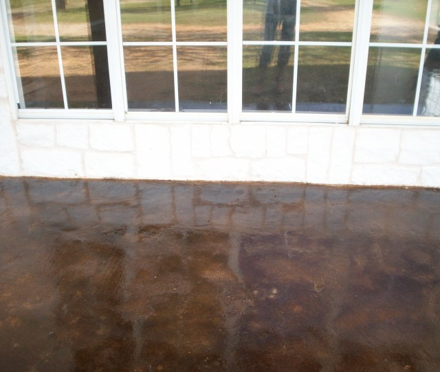 Black With Brown Hues Acid Stain High Gloss Industrial Sealer